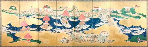 津島祭屏風
