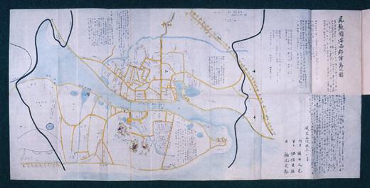 尾張国海西郡津島之図