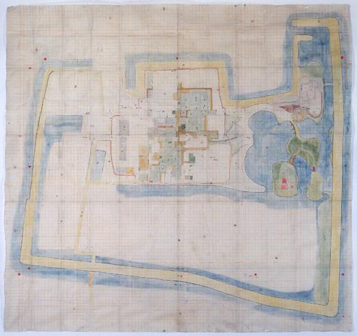 津島神社神主邸屋敷図