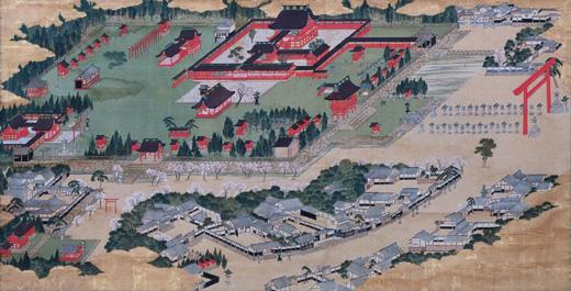 絹本著色津島神社絵図