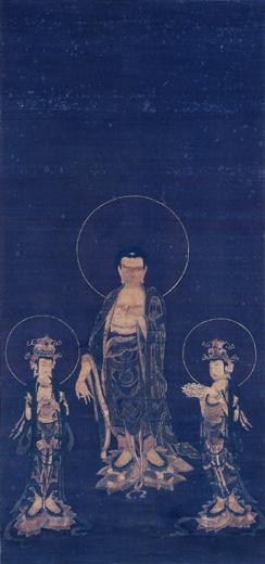 絹本著色阿弥陀三尊画像