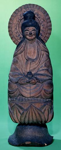 木喰明満作木造薬師如来坐像