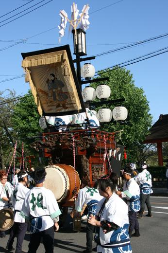 津島秋祭北部有志石採祭車