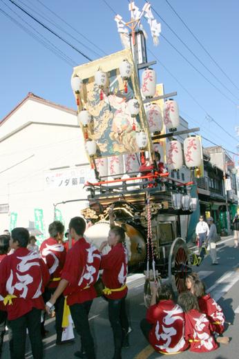 津島秋祭南部有志石採祭車